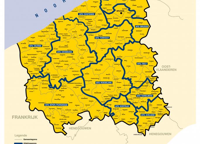 afdelingen Wit-Gele Kruis West-Vlaanderen