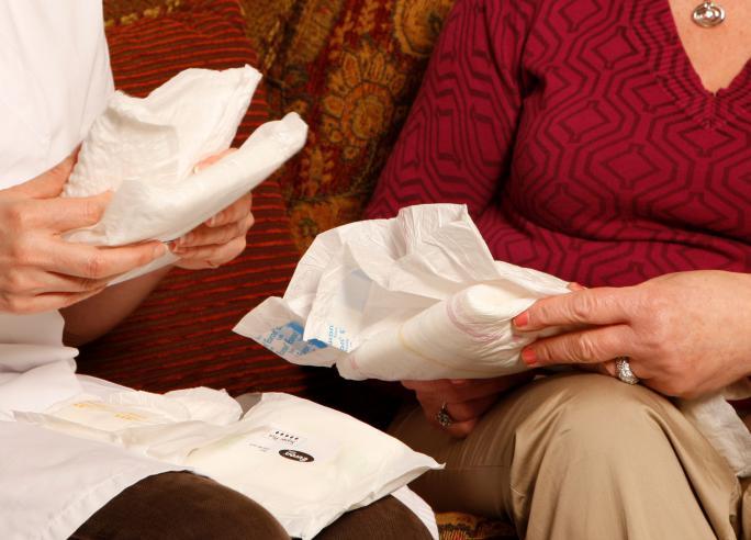 Incontinentie: absorberend materiaal bij verlies stoelgang of urine