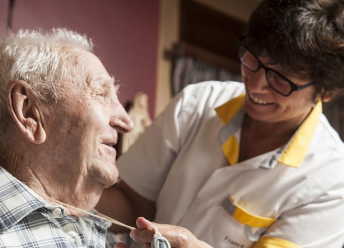 patient met verpleegkundige