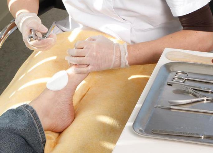 Gespecialiseerde voetverzorging (pedicure)