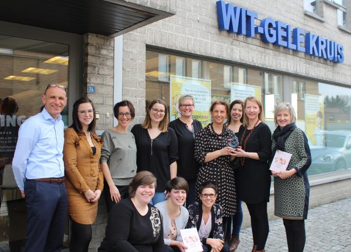 Mammae-borstvoedingsaward voor vroedvrouwen Wit-Gele Kruis Limburg