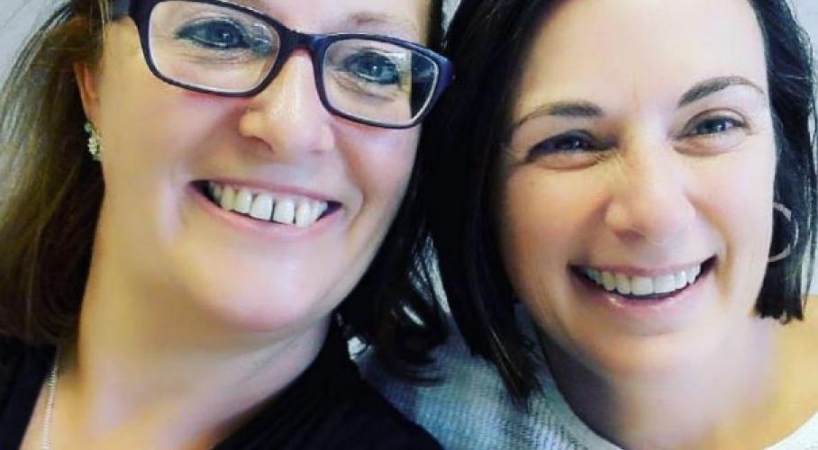 Heidi en Sabine herenigd bij het Wit-Gele Kruis